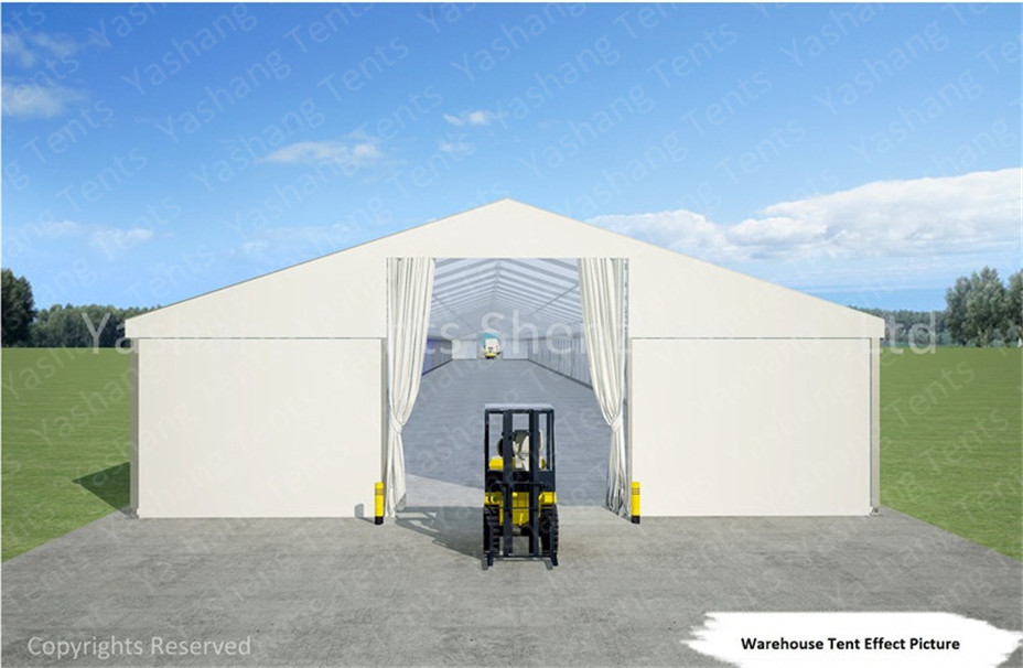 White Industrial Marquee Outdoor Warehouse Tents , Temporary Warehouse Structures