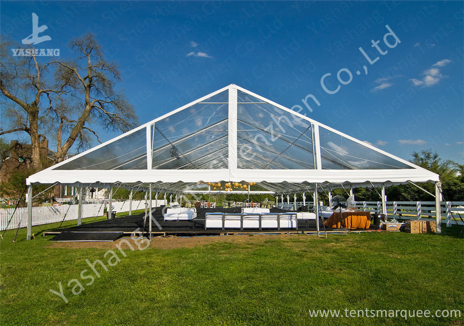 Clear PVC Fabric Top Aluminum Alloy Outdoor Luxury Wedding Tents