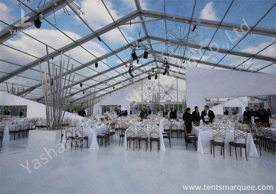 중국 Outdoor Transparent PVC Cover Luxury Wedding Tents Wind Resistant 공장