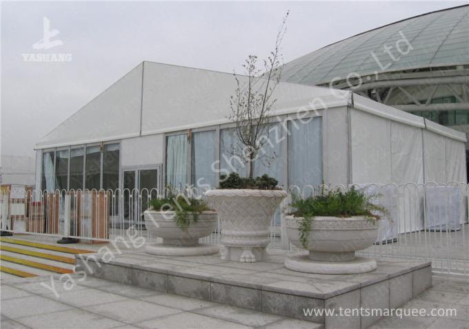 _20M by 20M Outdoor Aluminum Profile Event Tent with Transparent Glass Wall