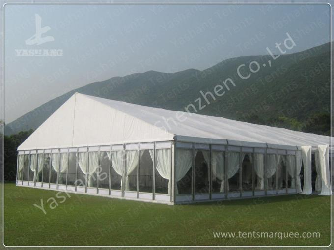Wine Party Clear Top Tent Structure Aluminum Alloy Frame , clear roof tent wedding reception