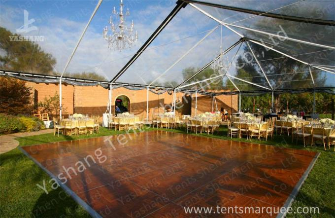 Grey Temporary Tent Structures Outdoor Storage Canopy 100km/h Wind Load